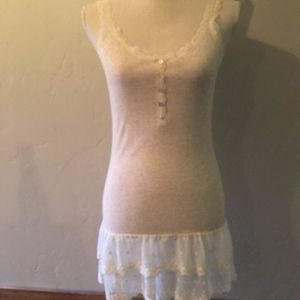 Anthro Lili's Closet Lace Trimmed Dress Size Small